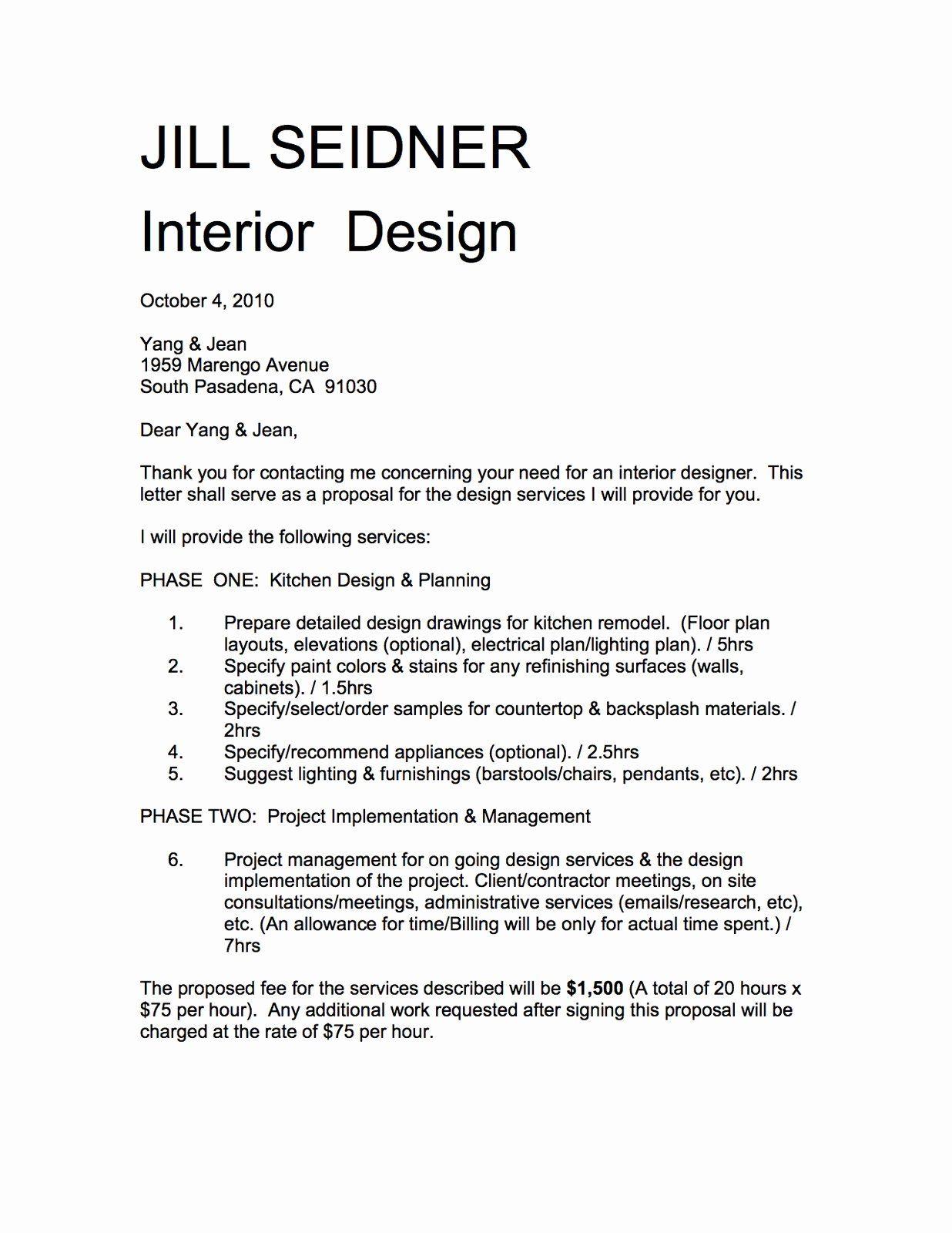 Interior Design Proposal Template Awesome Jill Seidner Interior Design Yang Jean Kitchen In 2020 Service Design Proposal Proposal Templates