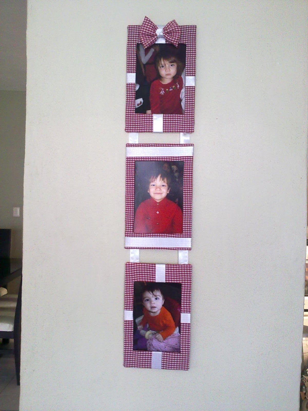 Ah! Como hacer Manualidades sencillas paso a paso: Marco para fotos ...