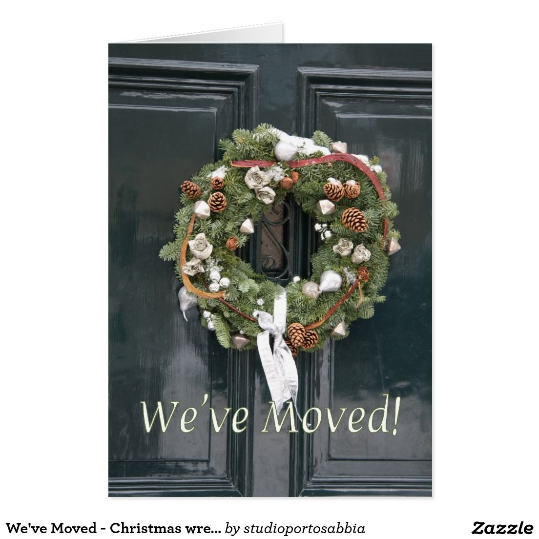 We\'ve Moved - Christmas wreath Card | Shared board for greeting ...