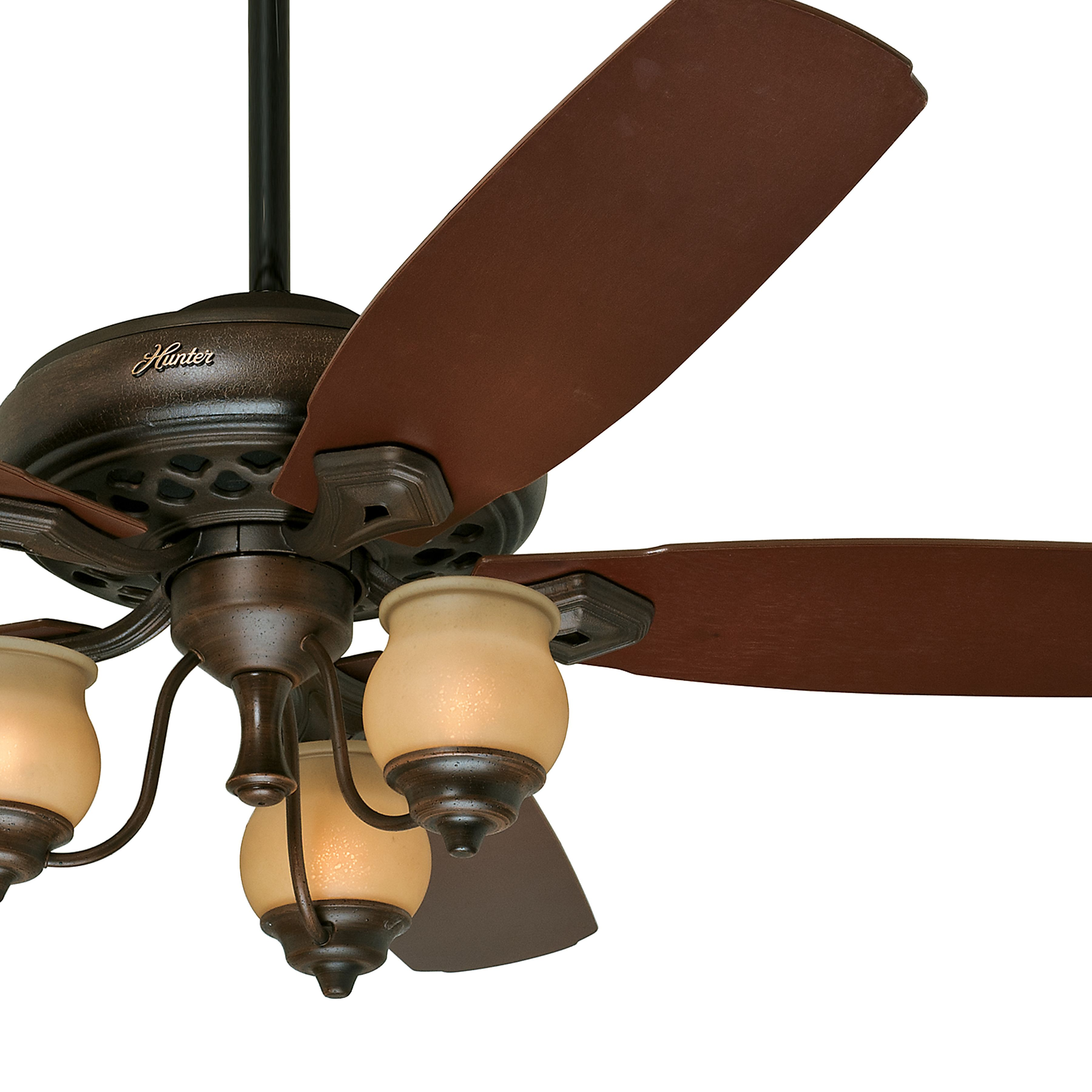 Hunter 64 Inch Provence Crackle Finish Ceiling Fan With Amber
