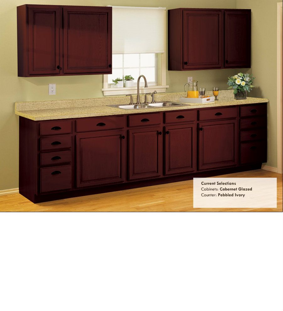 Cabernet Glazed Counter Color Is Close To What We Have Now Rustoleum Cabinet Transformation Espresso Kitchen Cabinets Budget Kitchen Remodel
