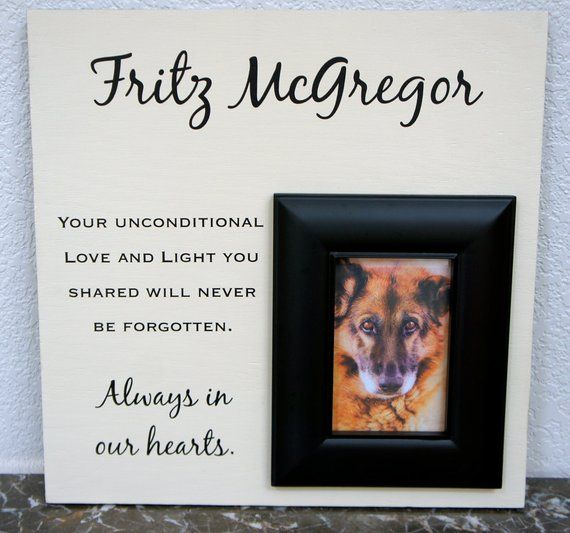 Pet Memorial Personalized and custom saying Picture Frame- Dog Cat ...