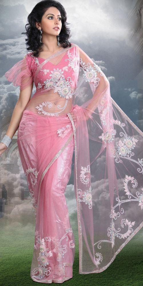 Alluring Deep Pink Embroidered Saree | amazing | Pinterest | Novia ...