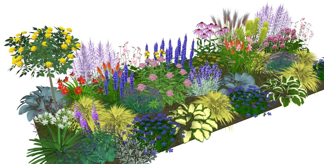 1102 560 garden paradise pinterest for Garden border plant designs