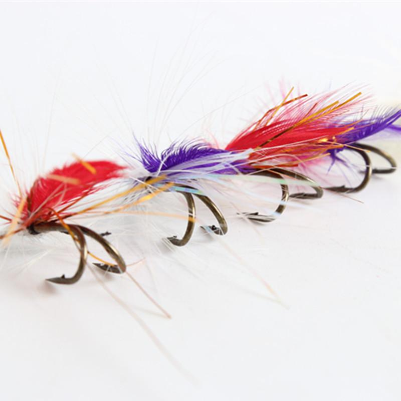 Fly Fishing Set Of 12 Lures / Hooks, Imitation Butterfly