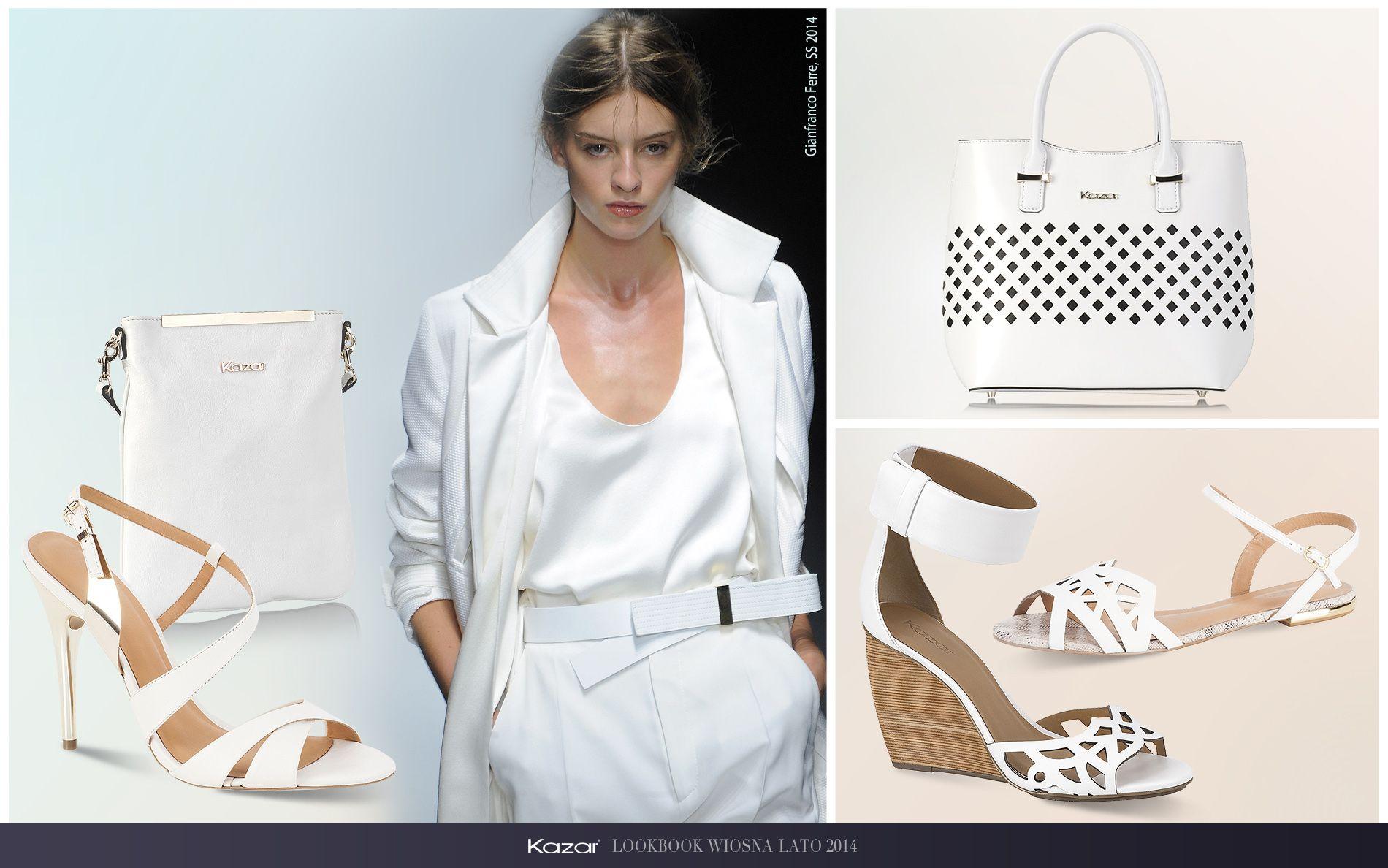 Lookbook Wiosna Lato 2014 Kobieta Kazar Footwear Polyvore Fashion White