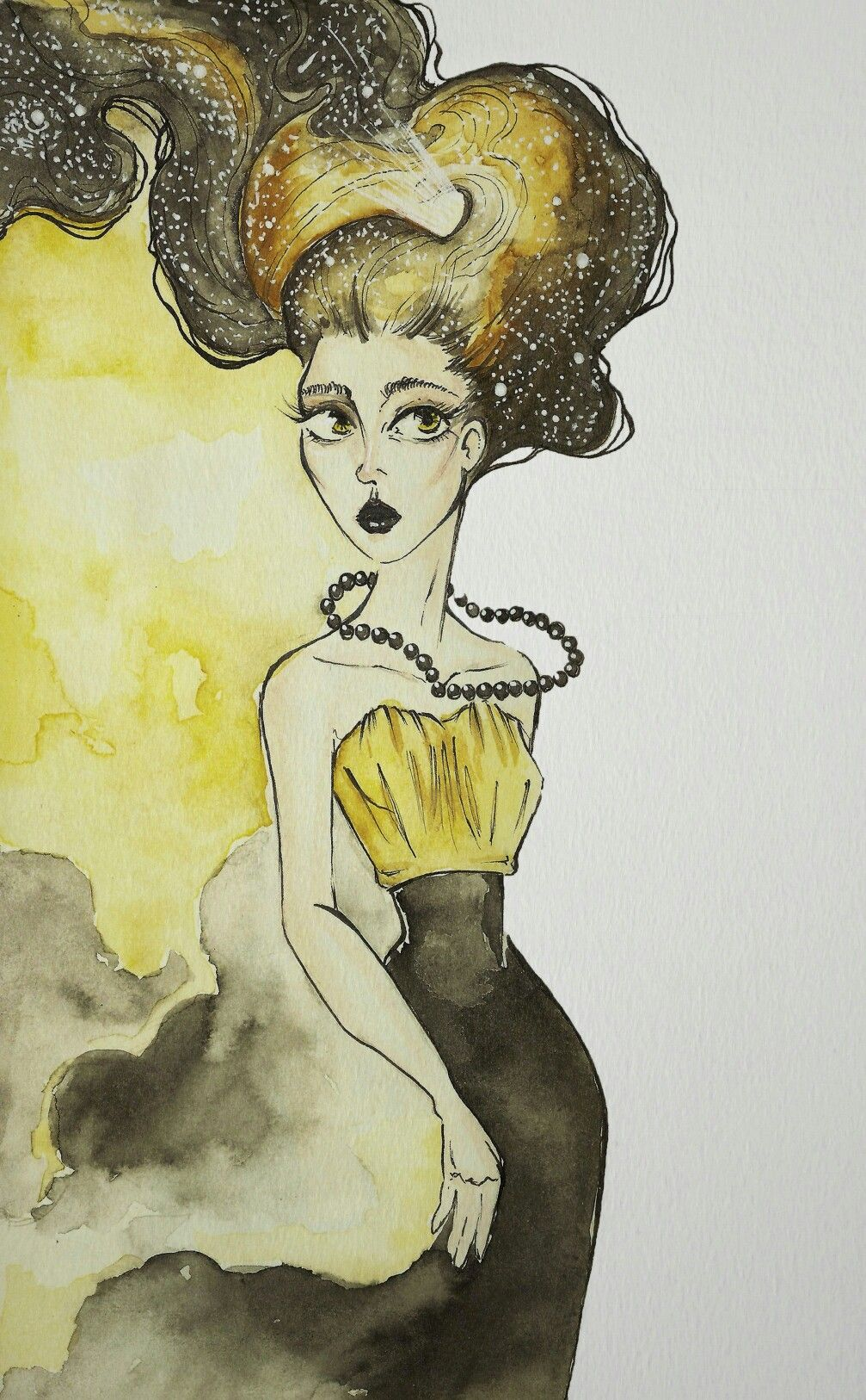 Infinity yellow #watercolor #illustration #drawmore