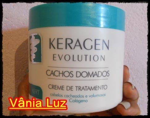 Resenha: Creme de Tratamento Keragen Revolution Cachos Domados ~ Dicas para Cabelos Crespos e Encaracolados, por Vânia Luz