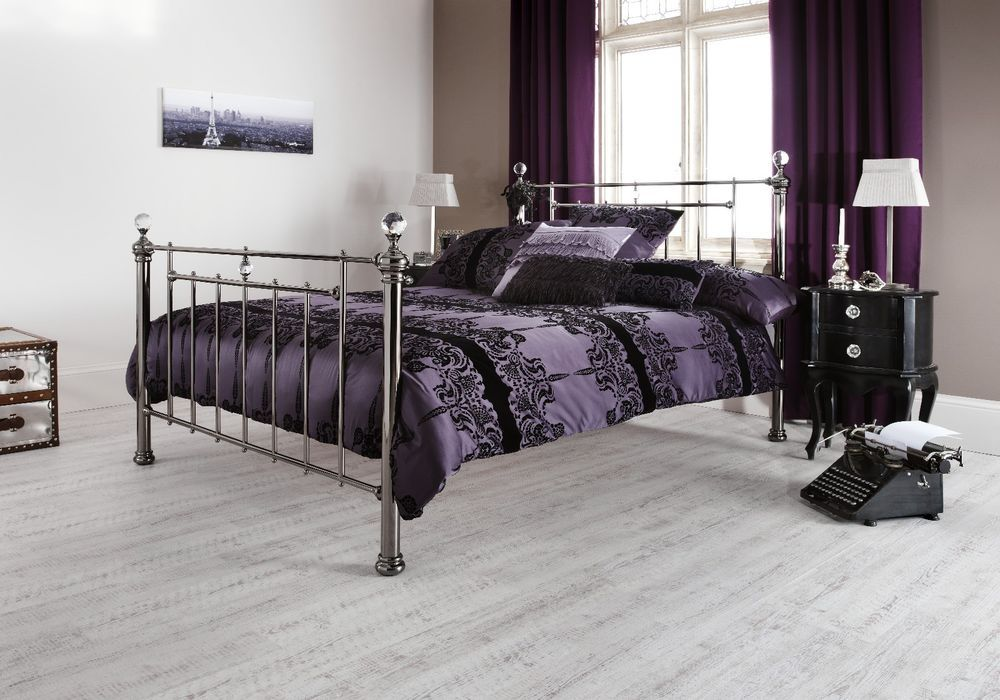 Details about Elsie Metal Bed Frame Victorian Antique