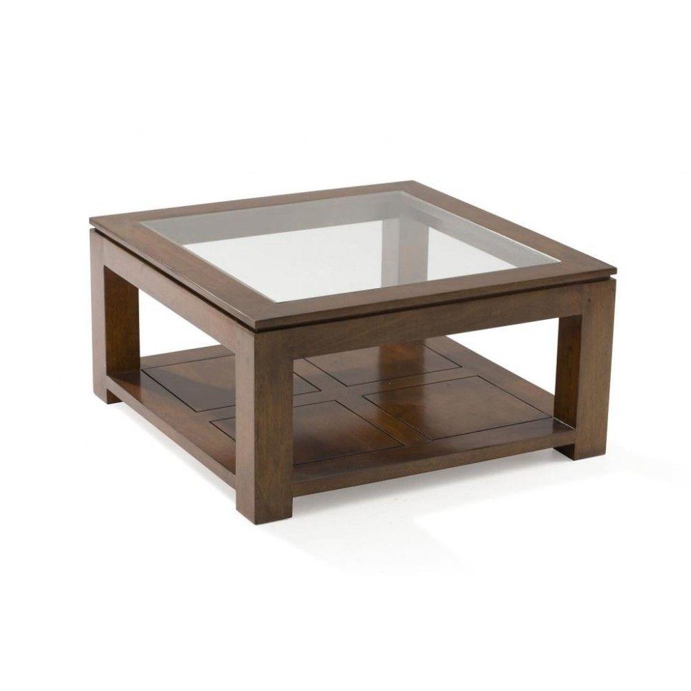 Table Basse Vitree Hevea 80x80xm Helena Table Basse Table Basse Bois Table Basse Vitree