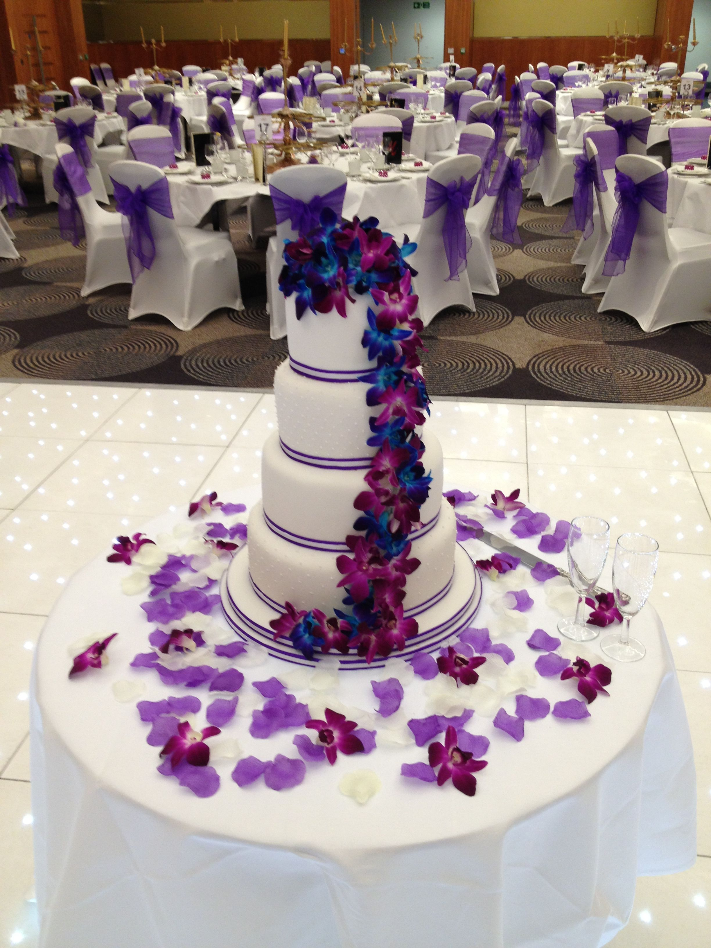 Royal Blue And Purple Wedding Cake Cakes Purple Wedding Cake