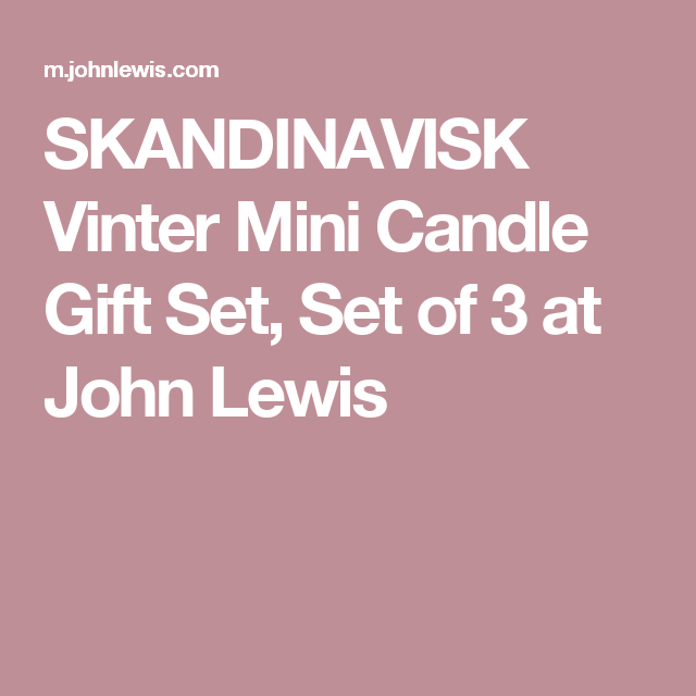 Skandinavisk Vinter Mini Candle Gift Set Set Of   John Lewis