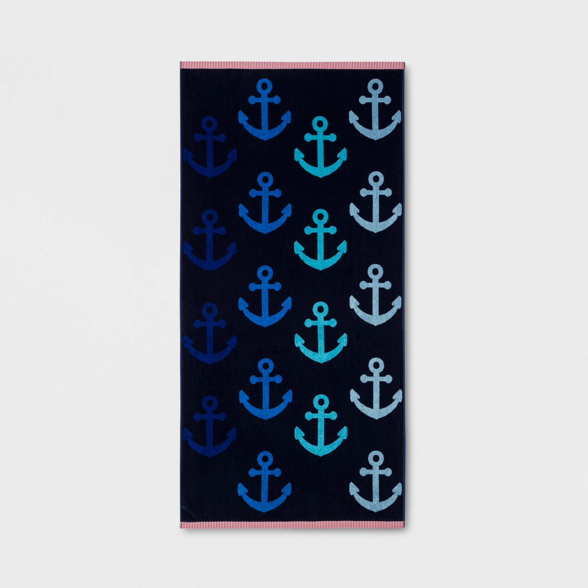 Xl Anchor Beach Towel Navy Sun Squad Adult Unisex Blue