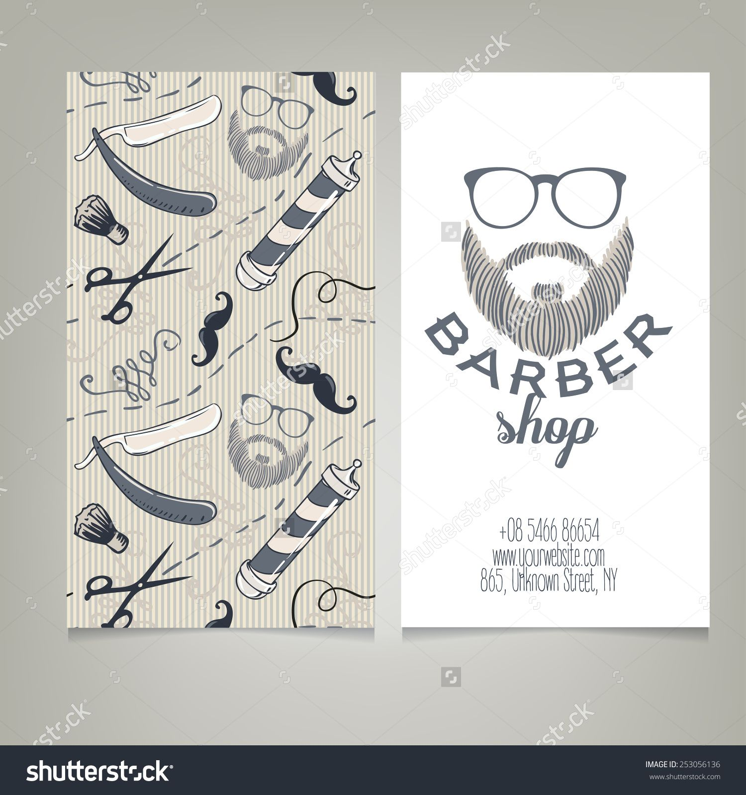 Hipster barber shop business card design template vector hipster barber shop business card design template vector illustration fbccfo Image collections