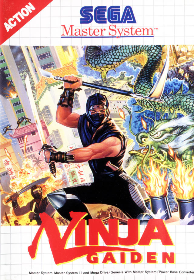 Ninja Gaiden Sega Master System Cover Art Inspiration