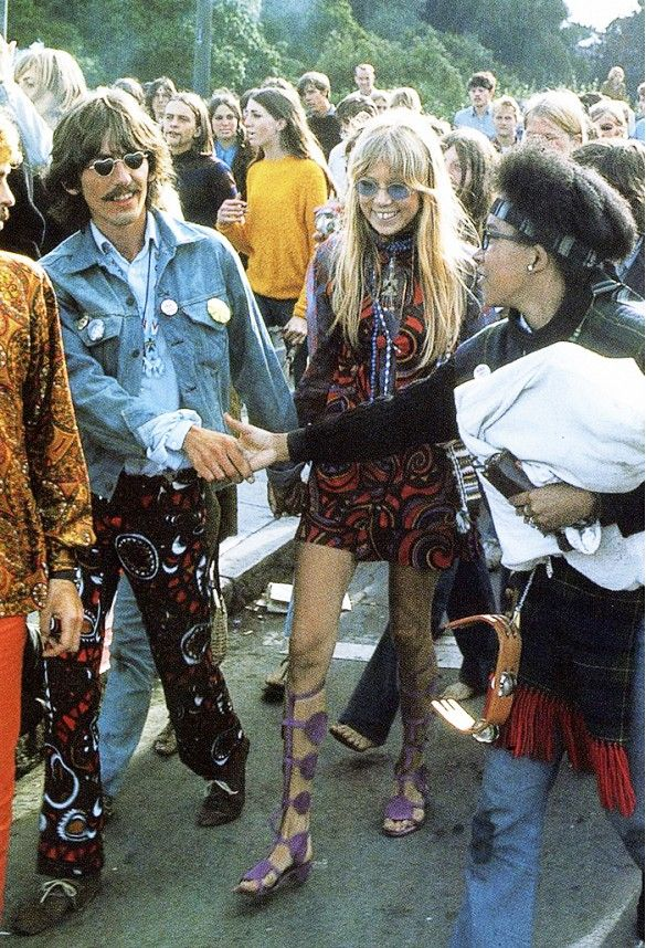 George Harrison and Pattie Boyd on Haight-Ashbury in the 1960s