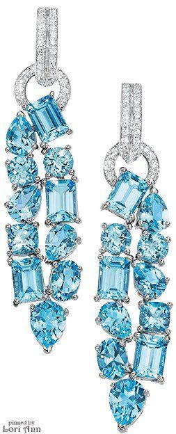 Cellini Blue Topaz Drop Earrings