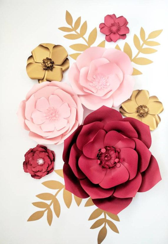 Large Paper Flowers Paper Flower Centerpiece Valentine S Day