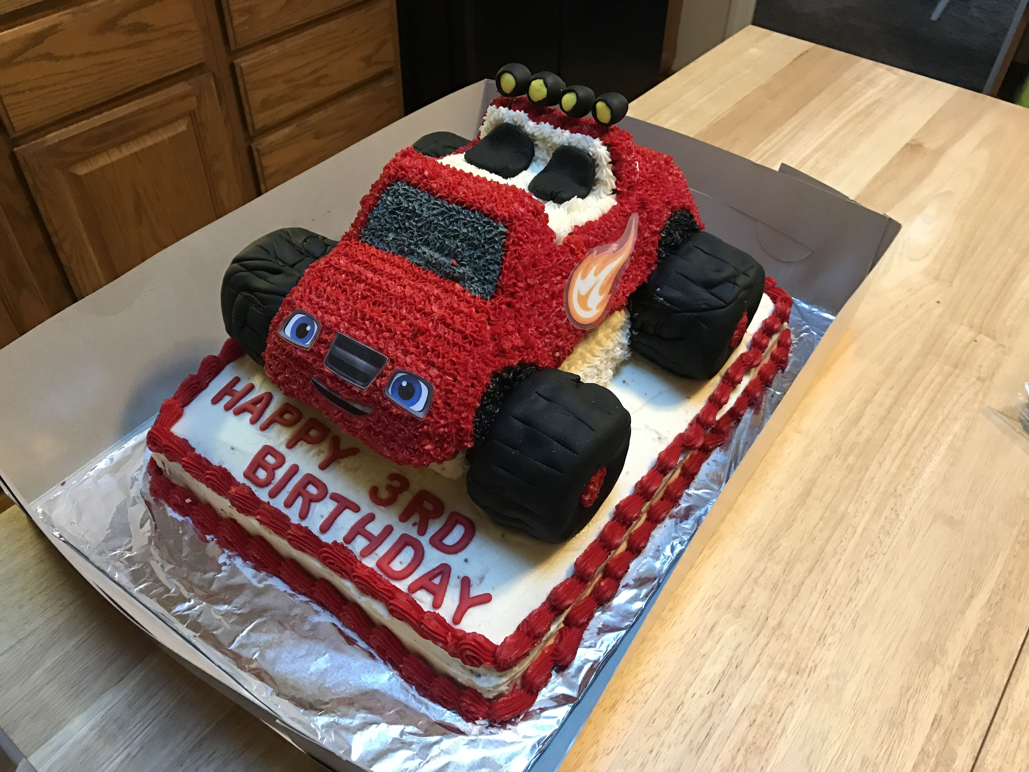 Blaze And The Monster Machines Cake I Made For My Nephew S