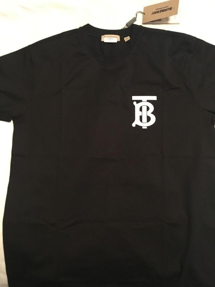 ea9dec2e2aa3 eBay #Sponsored NEW/Men's Thomas Burberry TB x Riccardo Tisci Monogram T- Shirt Black Size S