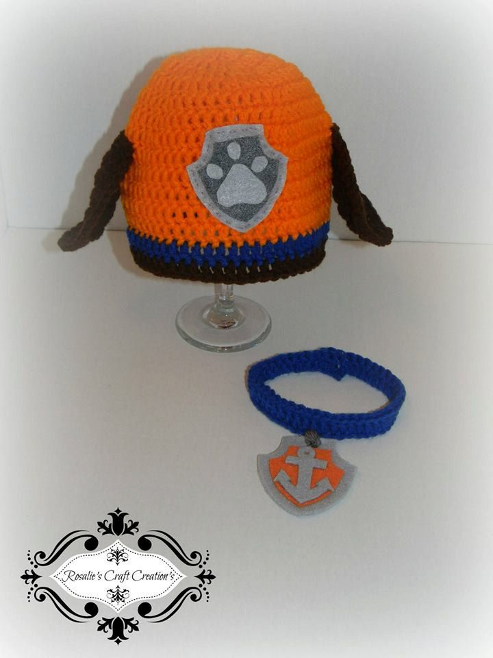 Crochet Finished Paw Patrol Zuma Hat and Collar by ...