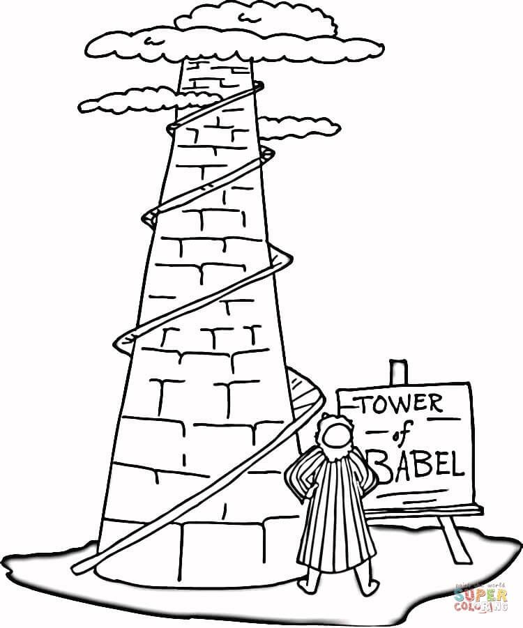 tower of babel coloring pages # 1