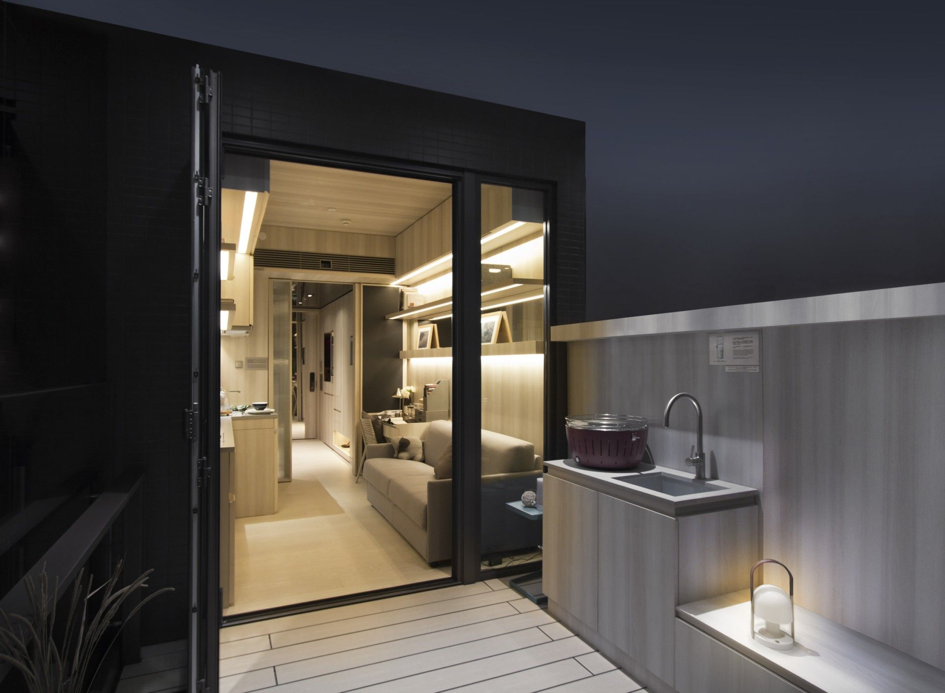 Private Housing Interior Design Category 18sqm Compact Apartment In Hong Kong