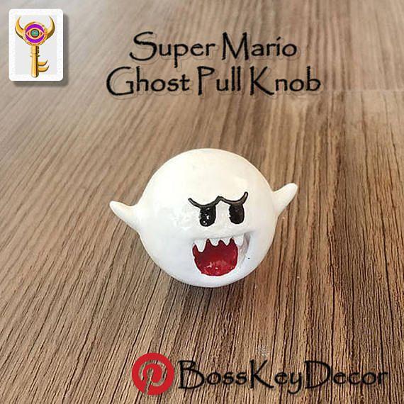 Genial Ghost Boo Super Mario Home Decor Dresser Pull | Geek Decor Pull Knob |  Nintendo Video Game Drawer Pulls