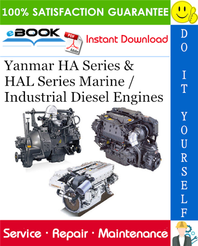 Yanmar Ha Series Hal Series Marine Industrial Diesel Engines Service Repair Manual Diesel Engine Marine Diesel Engine Diesel