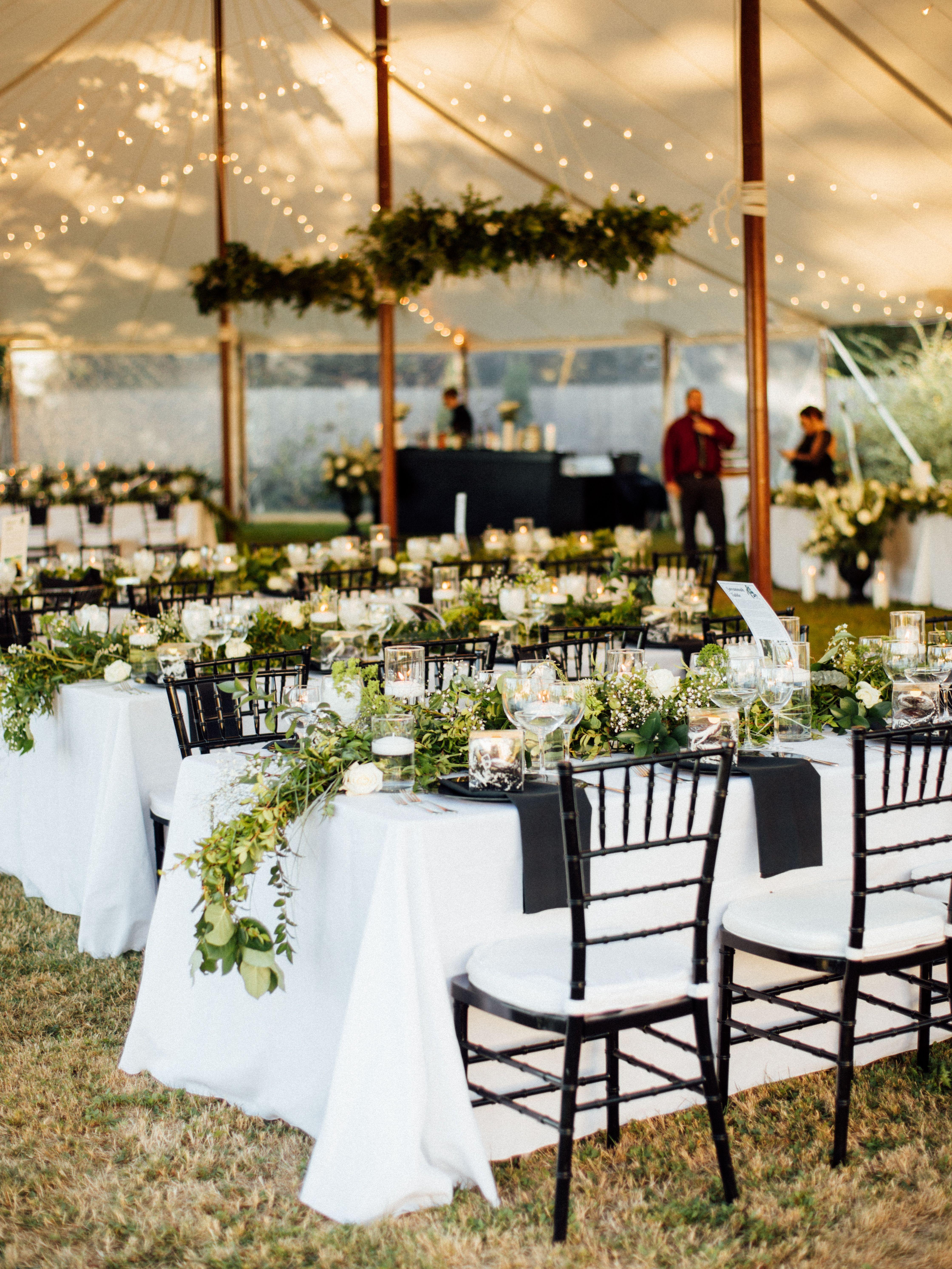 Greenery Outdoor Diy Tent Decor Wedding Chandelier Inspo