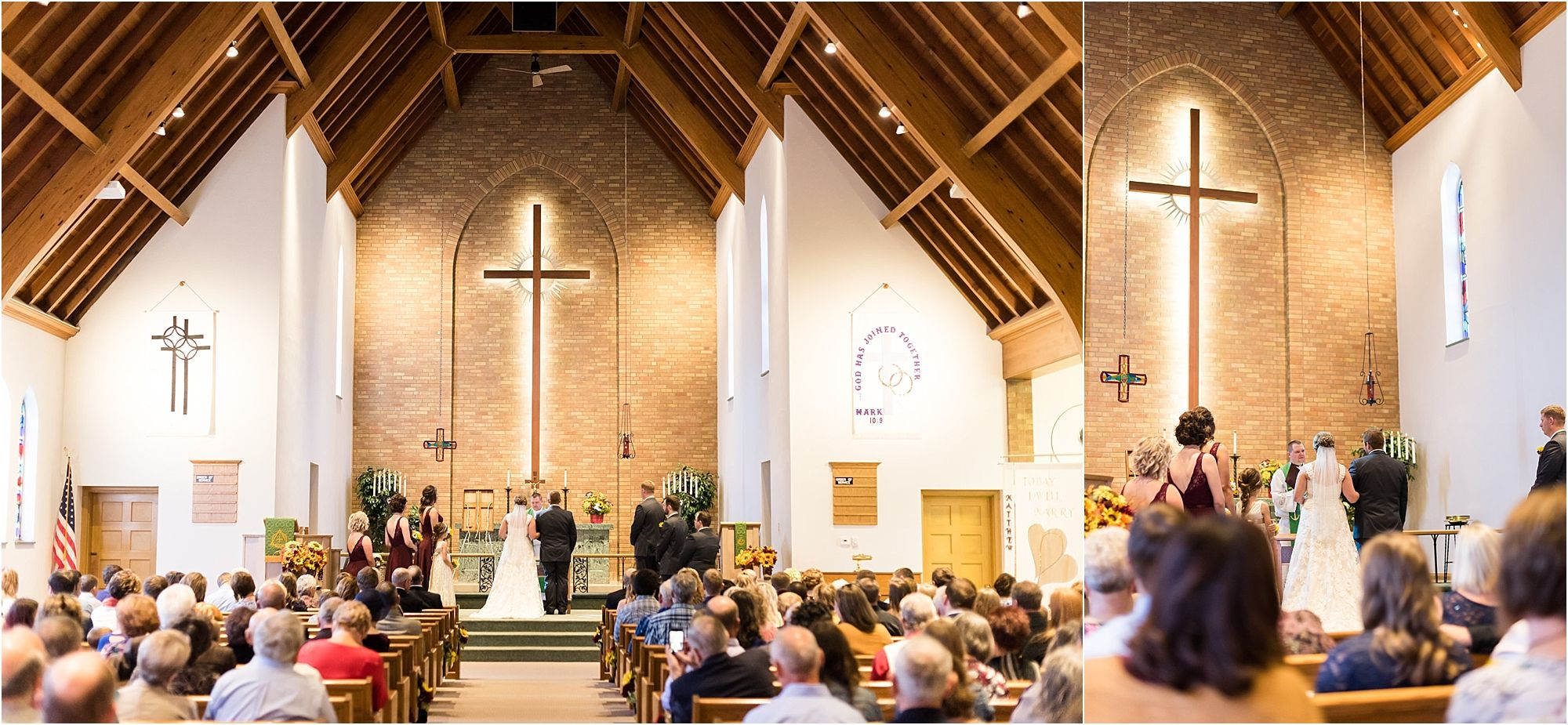 church wedding wide angle shot - maddiepeschong.com #wideangle