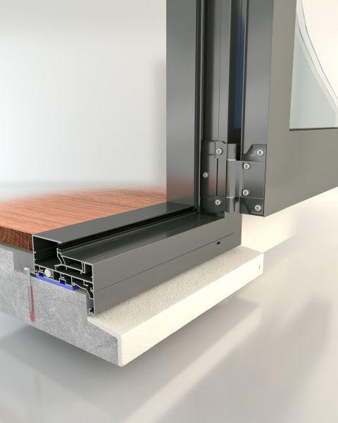 Aluminium Glazing With Swing Door Threshold Detail Google Search Sliding Door Systems Door Thresholds Doors
