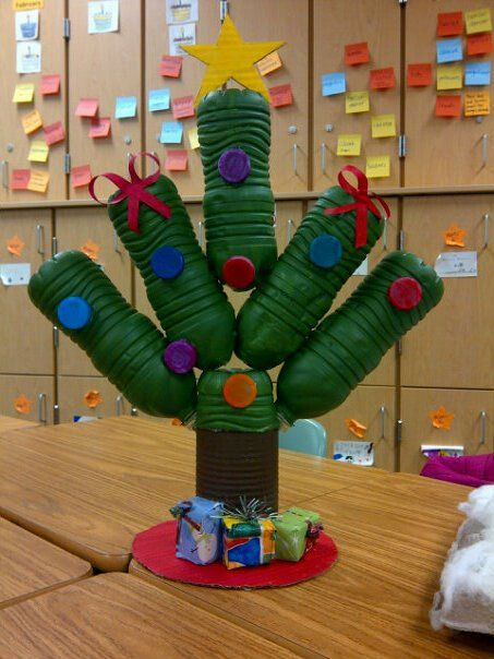 Winter a r t projects 4th grade artisans recycling Christmas tree ideas using recycled materials
