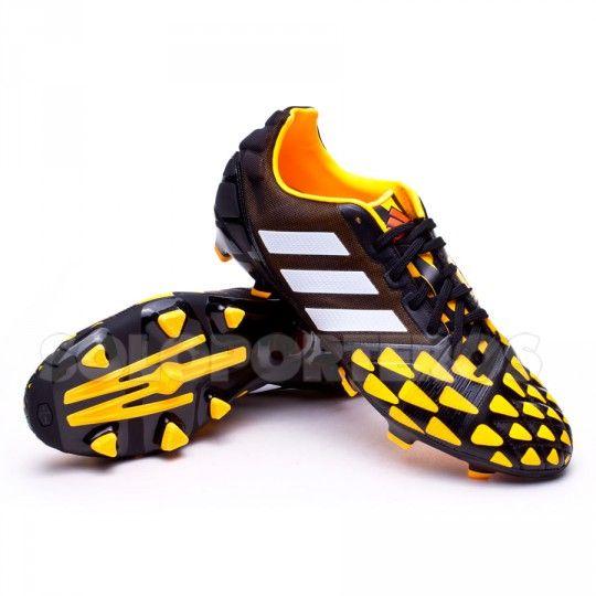 online retailer a8fde eab2e Bota de fútbol adidas Nitrocharge 2.0 TRX FG Negra-Blanca-Solar gold