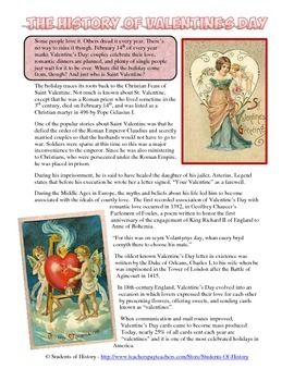 history of valentine 39 s day common core reading worksheet middle ages common cores and middle. Black Bedroom Furniture Sets. Home Design Ideas