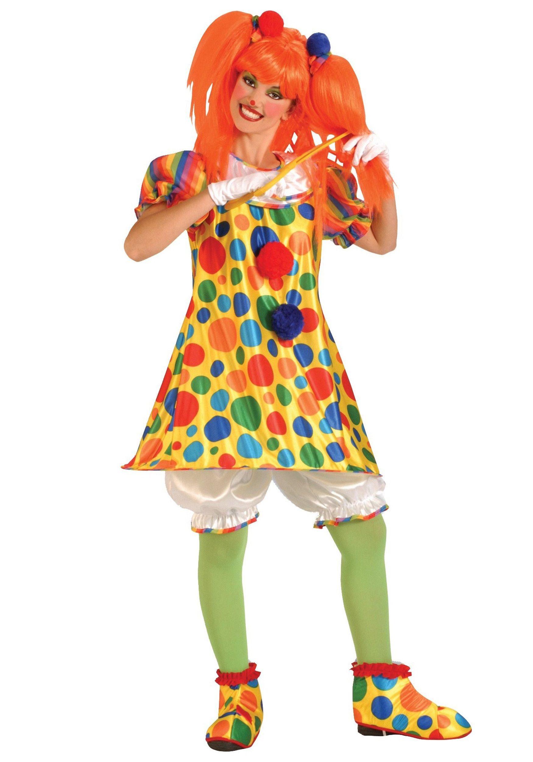 woman costumes - Girl Clown Halloween Costumes