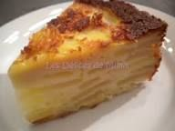 Gâteau-flan aux pommes #flanpatissier