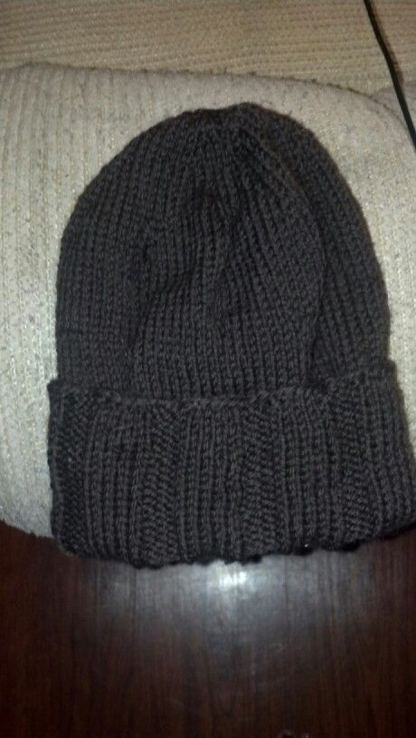 Wool knitted hat. Hand made.