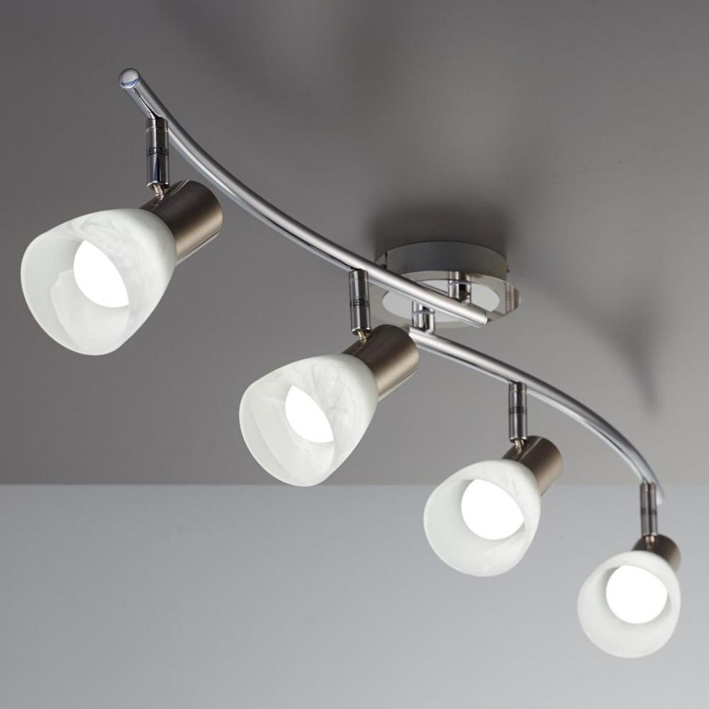 Schwenkbare LED Deckenleuchten Wandleuchten mit Glaslammpenschirm Lichtspots