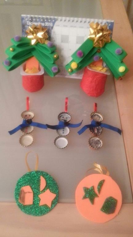 Manualidades De Navidad Chiquiartista Marcos Con 4 Anos Obras De
