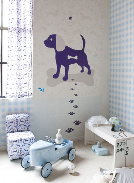 Not only for boy's bedroom - doggy decor. :-)