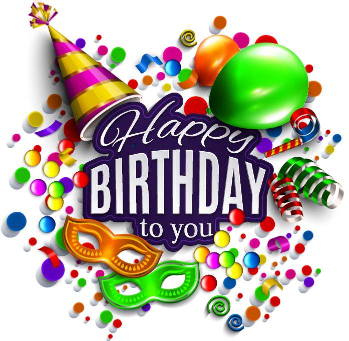 Happy Birthday Deco Happy Birthday Transparent Png Image Clipart Happy Birthday Theme Happy Birthday Png Birthday Wishes And Images