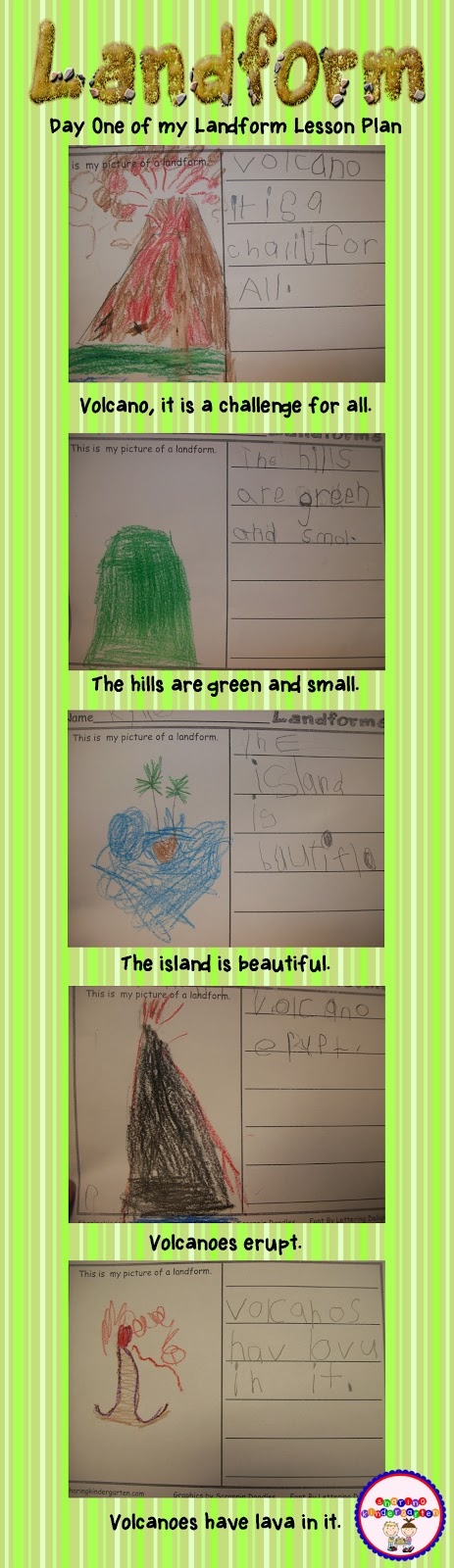 Landform lesson plans for K so much fun! Landforms - land form