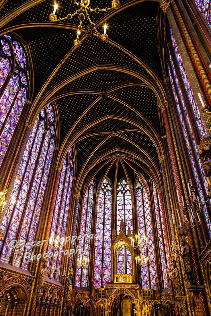 Sainte-Chapelle Stain Glass Window Photography, Cathedral Architecture Photo, French Church, France Fine Art Print, Paris Lover Gift for Her