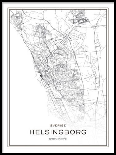 Helsingborg Poster Map Art Poster Map Print