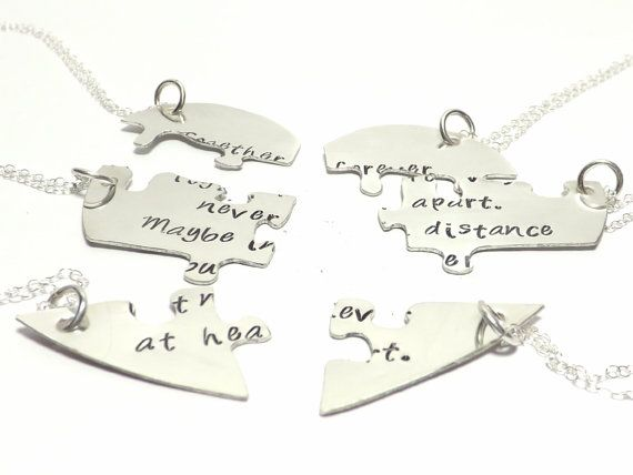 Set of 6 Sterling Silver Heart Shaped Puzzle by ...