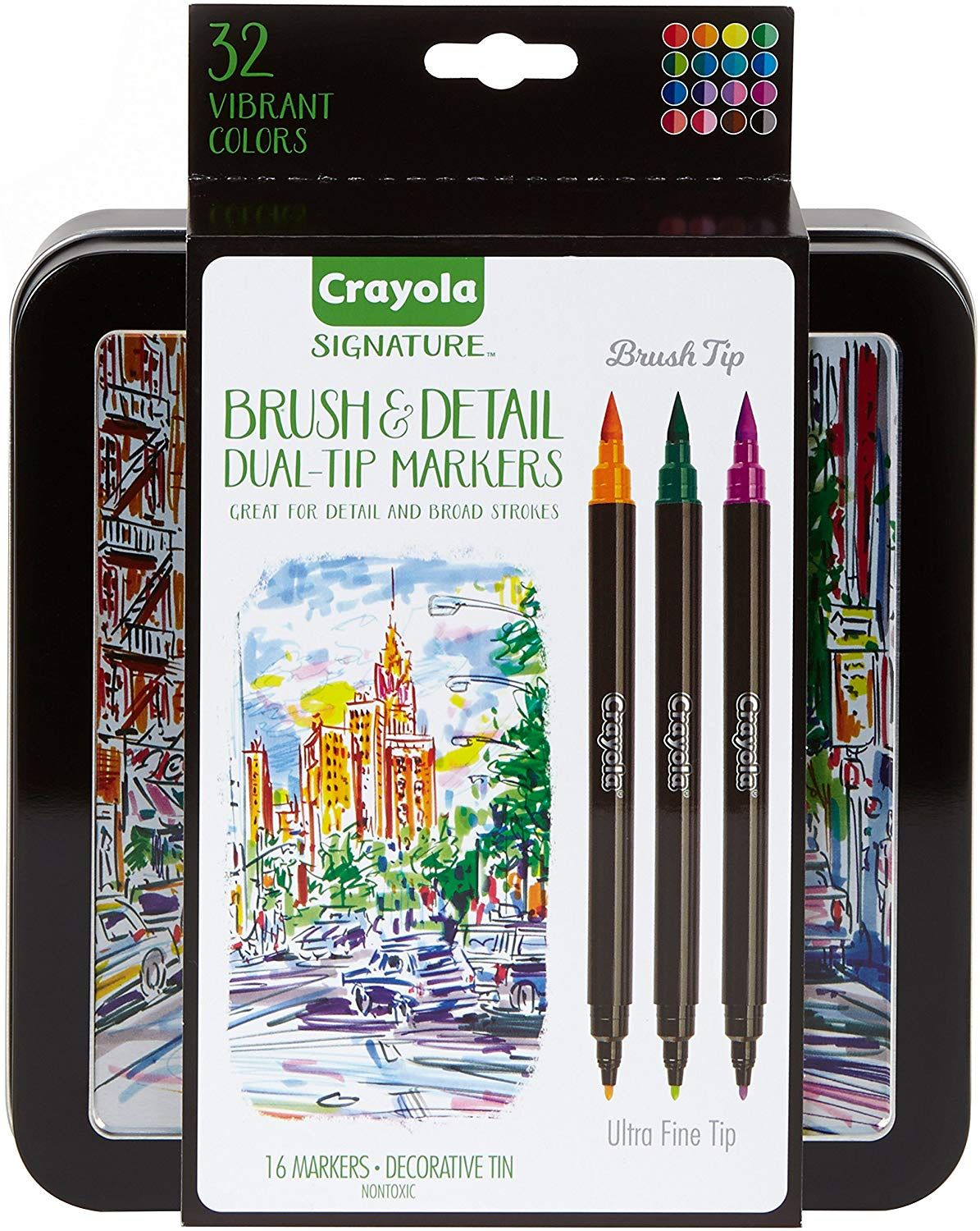 Brush /& Fine Tip Markers 36 Color for Beginners Hand Lettering Journaling Note Taking and Coloring Book Dual Brush Calligraphy Pens Art Marker 18 Count
