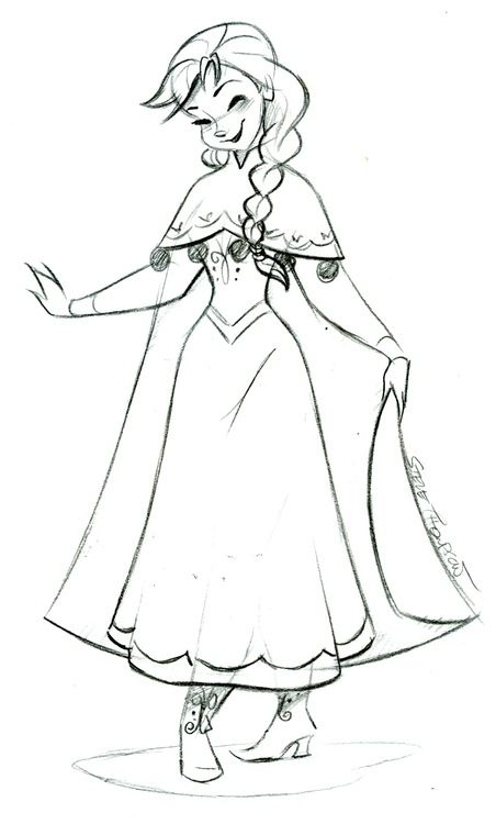 (C)DISNEY / Steve Thompson ~ Congrats to the Frozen team on your Oscar nominations! Looks like Anna is already on her way to pick up a new dress for the occasion!