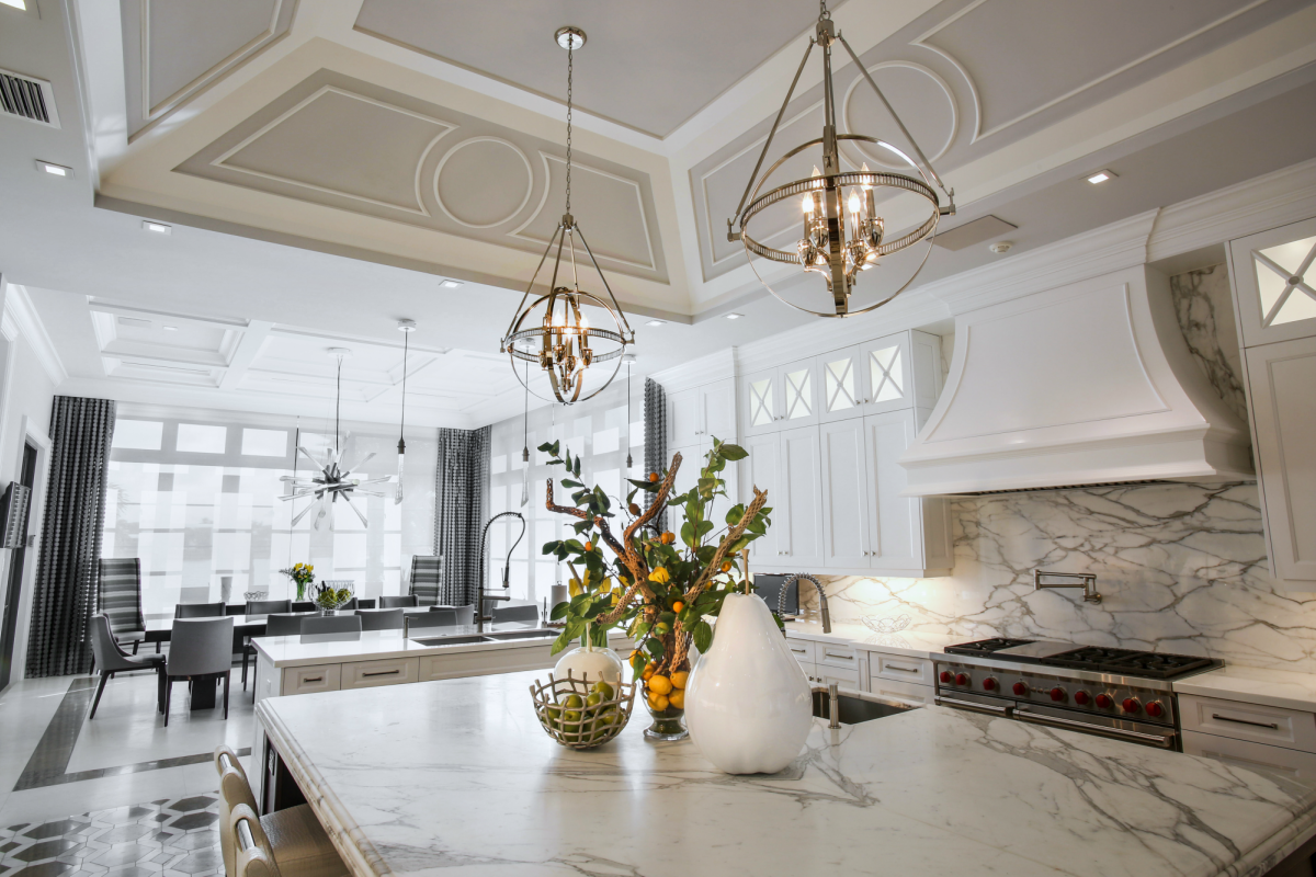 Add some contemporary style to your kitchen island with pendant