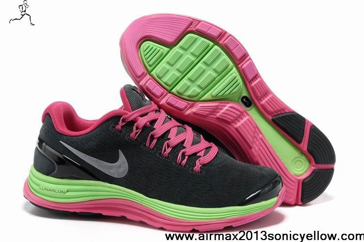 6676d5a28e9f Cheap Discount Suede Black Fireberry Green Silver Nike LunarGlide 4 Womens  524978-405 Casual shoes Shop